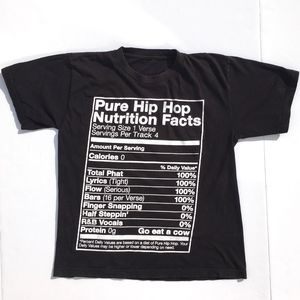 Local Celebrity Tops - Hip Hop Nutrition Facts Graphic Crop Tee sz S
